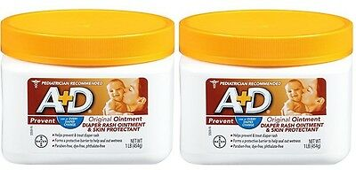 2 Pack A+D Original Diaper Rash & Skin Protectant Ointment 16 Oz Each