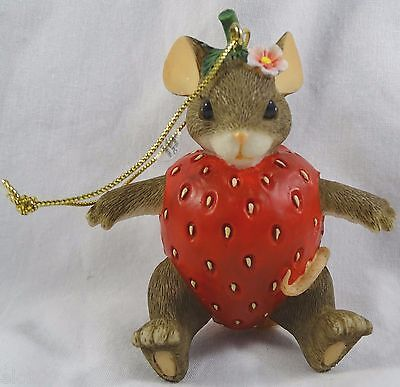 Charming Tails Ornament You're Berry Special Strawberry