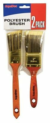 """SupaDec Polyester Brush Set 2 Pack Includes 1.5"""" & 2"""" Paint Brushes"""