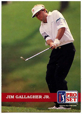 Jim Gallagher JR. #70 PGA Tour Golf 1992 Pro Set Trade Card (C322)