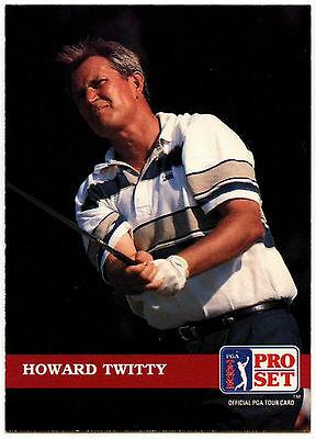 Howard Twitty #41 PGA Tour Golf 1992 Pro Set Trade Card (C322)