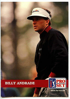 Billy Andrade #43 PGA Tour Golf 1992 Pro Set Trade Card (C322)