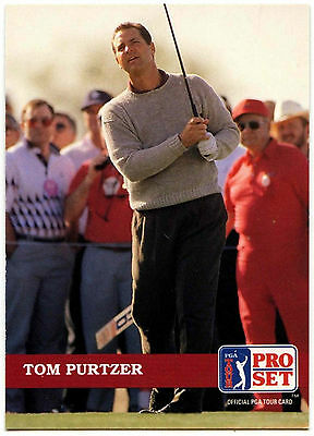 Tom Purtzer #30 PGA Tour Golf 1992 Pro Set Trade Card (C322)