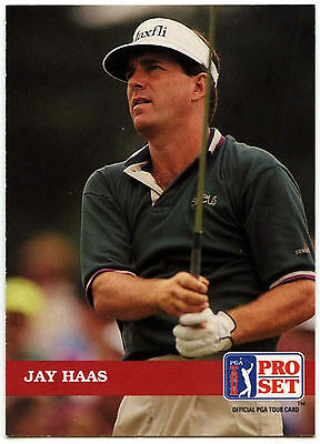Jay Haas #27 PGA Tour Golf 1992 Pro Set Trade Card (C322)