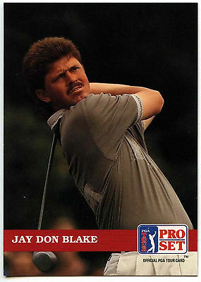 Jay Don Blake #115 PGA Tour Golf 1992 Pro Set Trade Card (C322)