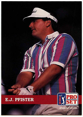 E.J. Pfister #153 PGA Tour Golf 1992 Pro Set Trade Card (C322)