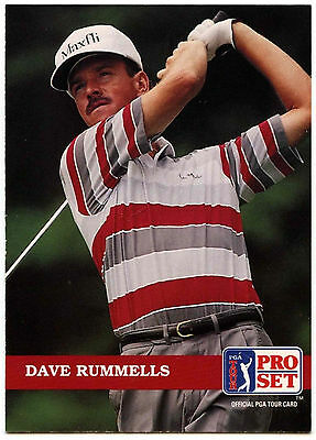 Dave Rummells #44 PGA Tour Golf 1992 Pro Set Trade Card (C322)