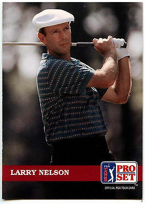 Larry Nelson #98 PGA Tour Golf 1992 Pro Set Trade Card (C322)