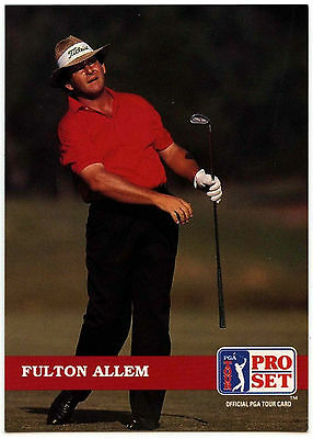 Fulton Allem #102 PGA Tour Golf 1992 Pro Set Trade Card (C322)