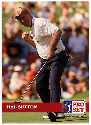 Hal Sutton #9 PGA Tour Golf 1992 Pro Set Trade Card (C322)