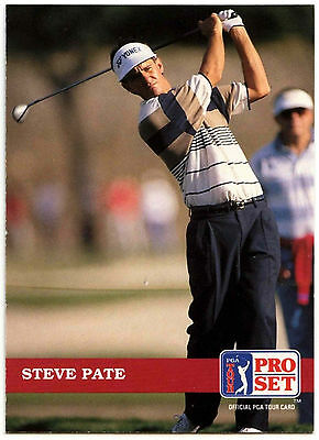 Steve Pate #77 PGA Tour Golf 1992 Pro Set Trade Card (C322)