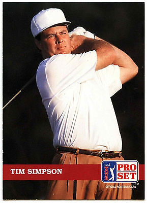 Tim Simpson #80 PGA Tour Golf 1992 Pro Set Trade Card (C322)
