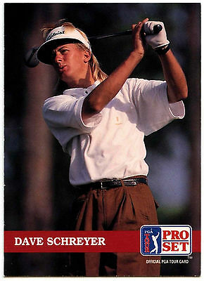 Dave Schreyer #171 PGA Tour Golf 1992 Pro Set Trade Card (C322)