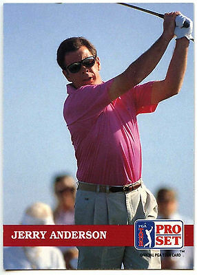 Jerry Anderson #172 PGA Tour Golf 1992 Pro Set Trade Card (C322)