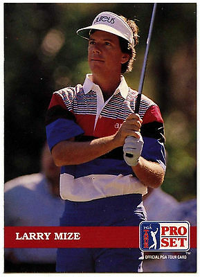 Larry Mize #105 PGA Tour Golf 1992 Pro Set Trade Card (C322)