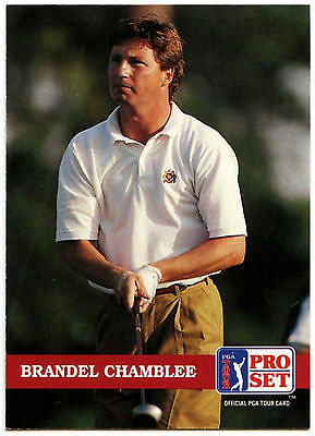 Brandel Chamblee #132 PGA Tour Golf 1992 Pro Set Trade Card (C322)