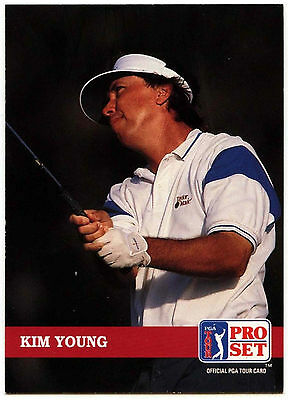Kim Young #128 PGA Tour Golf 1992 Pro Set Trade Card (C322)