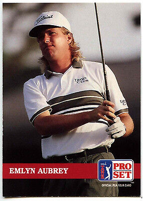 Emlyn Aubrey #130 PGA Tour Golf 1992 Pro Set Trade Card (C322)