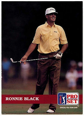 Ronnie Black #76 PGA Tour Golf 1992 Pro Set Trade Card (C322)
