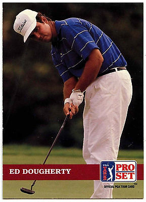 Ed Dougherty #91 PGA Tour Golf 1992 Pro Set Trade Card (C322)