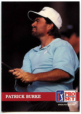 Patrick Burke #146 PGA Tour Golf 1992 Pro Set Trade Card (C322)