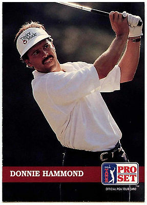 Donnie Hammond #124 PGA Tour Golf 1992 Pro Set Trade Card (C322)
