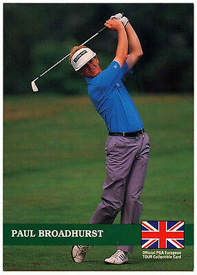 Paul Broadhurst #E20 PGA Tour Golf 1992 Pro Set Trade Card (C322)