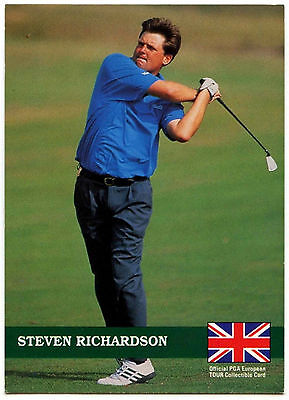 Steven Richardson #E13 PGA Tour Golf 1992 Pro Set Trade Card (C322)