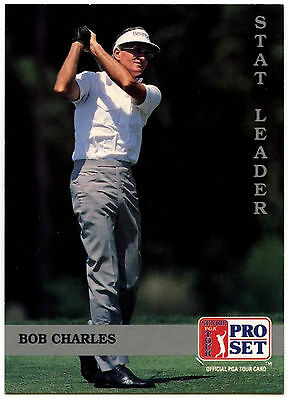 Bob Charles #275 PGA Tour Golf 1992 Pro Set Trade Card (C322)