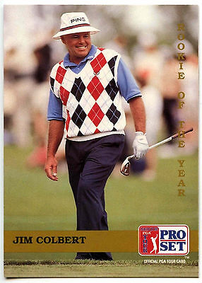 Jim Colbert #277 PGA Tour Golf 1992 Pro Set Trade Card (C322)
