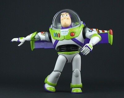 "Buzz Lightyear English Talking Toy Story Thinkway Disney Pixar 12"" Tested FAST!"