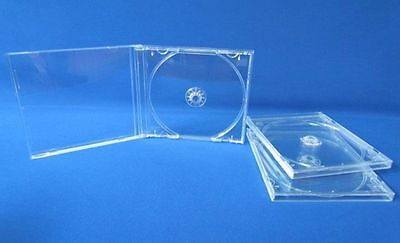 50 New Standard 10.4mm Single Clear Tray CD DVD R Jewel Cases, holds1 Disc, CDSC