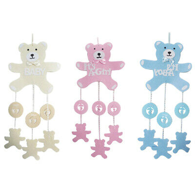 Pink Girl Blue Boy Baby Shower Party Decorations Hanging Bears Garland