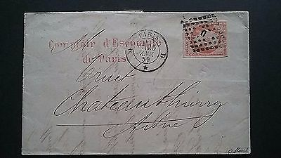 France 1859 SC #18 Classic Napoleon cover. Great Markings