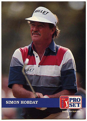 Simon Hobday #221 PGA Tour Golf 1992 Pro Set Trade Card (C322)