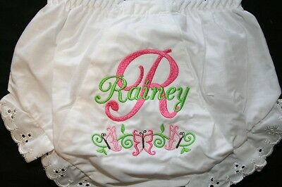Personalized Monogrammed Baby Toddler Diaper Cover Bloomers Big Initial Btrfl