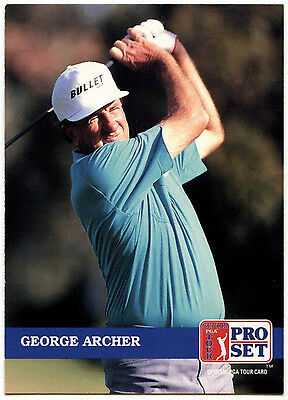 George Archer #214 PGA Tour Golf 1992 Pro Set Trade Card (C322)