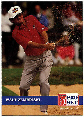 Walt Zembriski #210 PGA Tour Golf 1992 Pro Set Trade Card (C322)