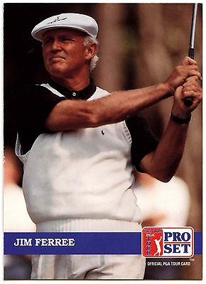 Jim Ferree #204 PGA Tour Golf 1992 Pro Set Trade Card (C322)