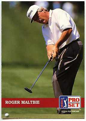Roger Maltbie #195 PGA Tour Golf 1992 Pro Set Trade Card (C322)