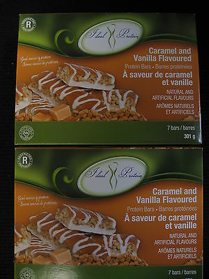 Ideal Protein  Caramel And Vanilla Flavoured Bars   (2 Boxes Of 7)