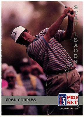 Fred Couples #184 PGA Tour Golf 1992 Pro Set Trade Card (C322)