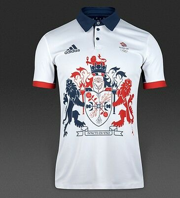 Adidas Team Gb Rio 2016 Climachill Polo Shirt -Bnwt- Sizes S-Xxl  Rrp £55