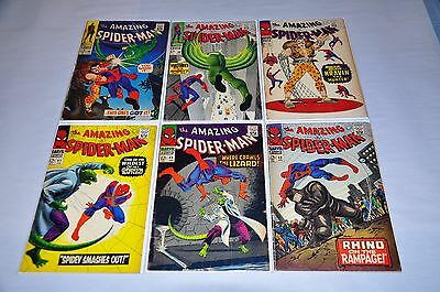 Amazing Spider-Man 43 44 45 47 48 49 Silver Age Lot