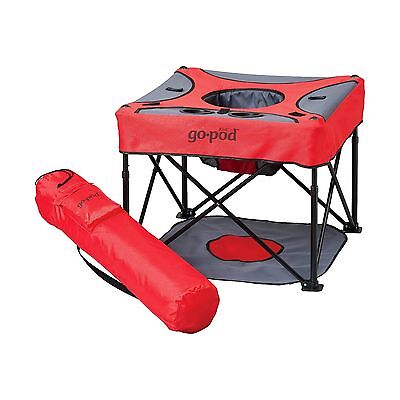KidCo GoPod Portable Baby Activity Station Red Cardinal 7003 Gently Used