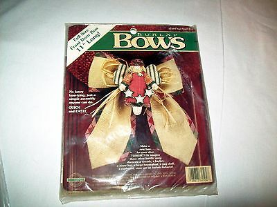 """Door Bow Craft Kit  Holiday Theme by Burlap Bows, All Supplies Included 11"""" Long"""