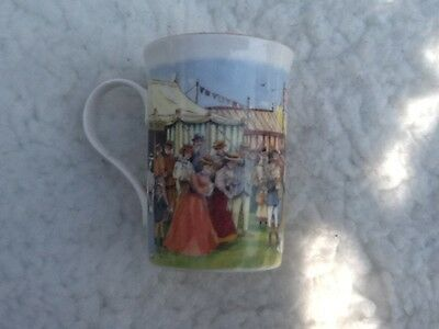"Ringtons  Bone China Mug Edwardian"" Fete & ""victorianf""air ~ Gold Rim"