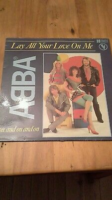 ABBA Lay all your love on me 12inch single. Record Rare