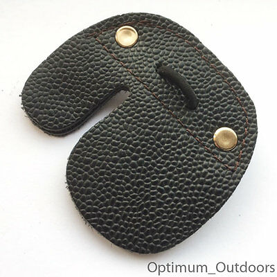 Leather Archery Fingertab Fingerguard Protector Finger Bowstring Guard Tab RH UK