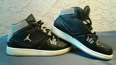21e46638010 NIKE BOY S YOUTH Jordan 1 Flight Shoes 374452-033 Black Gray Wht 6Y ...